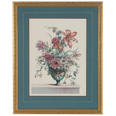 Offset Lithograph after Jean-Baptiste Monnoyer Floral Still Life