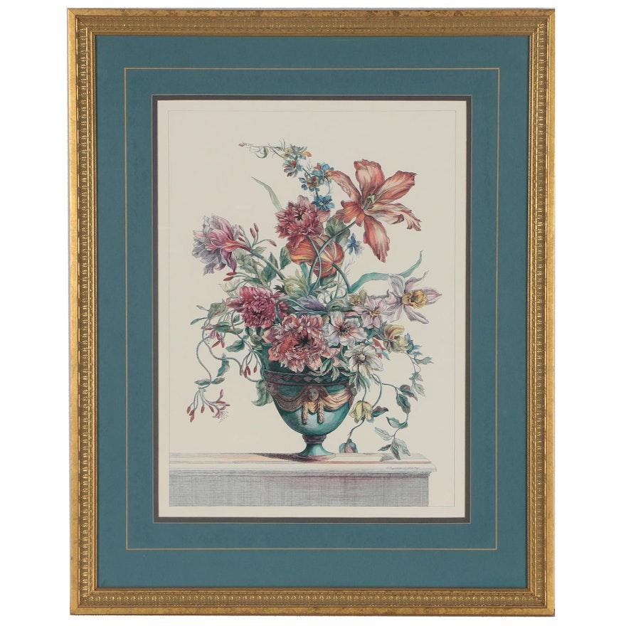 Offset Lithograph after Jean-Baptiste Monnoyer Floral Still Life