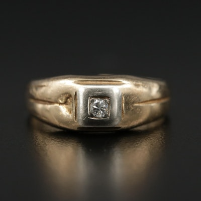 Antique 14K Diamond Ring
