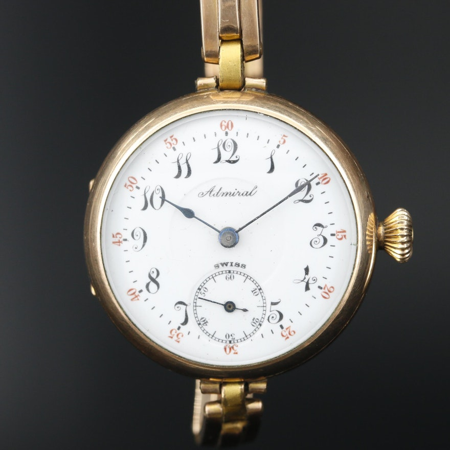 Admiral Swiss Gold Filled Wristwatch