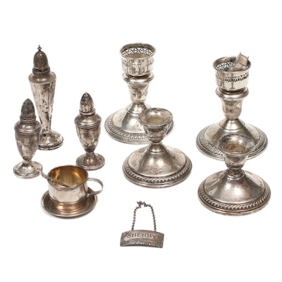 Stieff, Preisner and Other Sterling Silver Candlesticks and Table Accessories