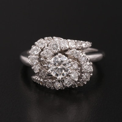 14K White Gold 1.07 CTW Diamond Ring