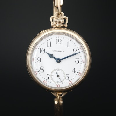 1914 Waltham Gold Filled Convertible Wristwatch