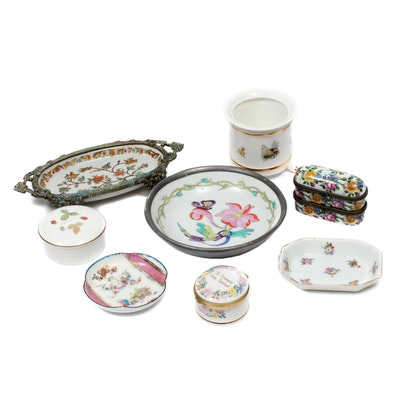 Wedgwood and Other Porcelain Vanity Boxes and Dishes