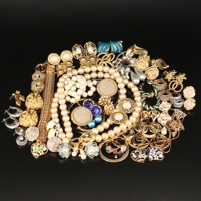 Assorted Costume Jewelry Including Kenneth Jay Lane and Monet