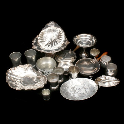 Wendell August, Lunt, and Other Silver Plate, Pewter, and Silver Tone Tableware
