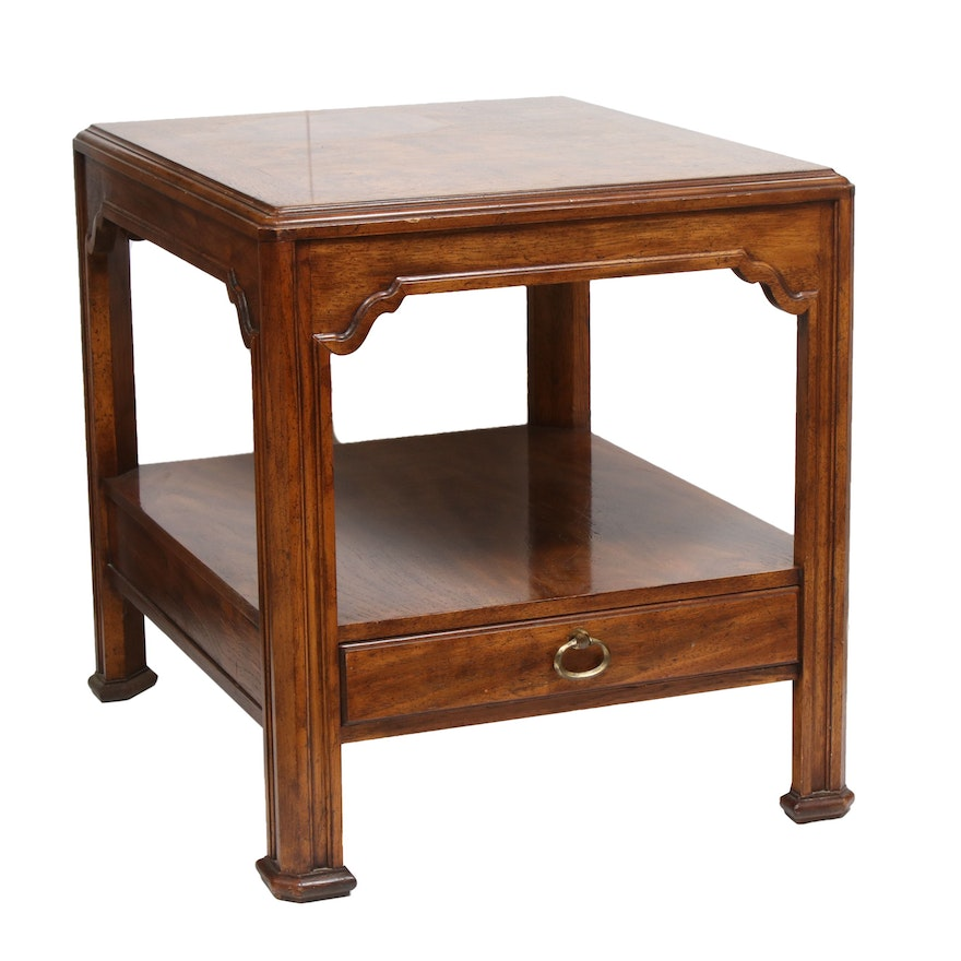Drexel Heritage Anglo-Chinese Side Table, Mid to Late 20th Century