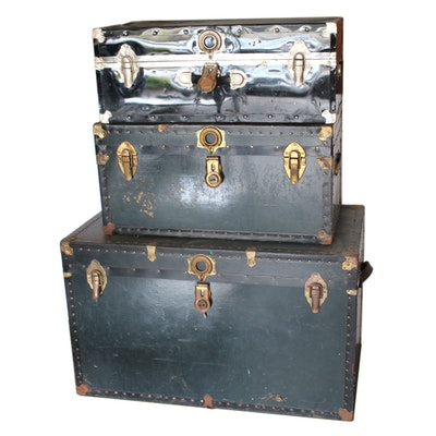 Footlockers and Steamer Trunk, 20th Century