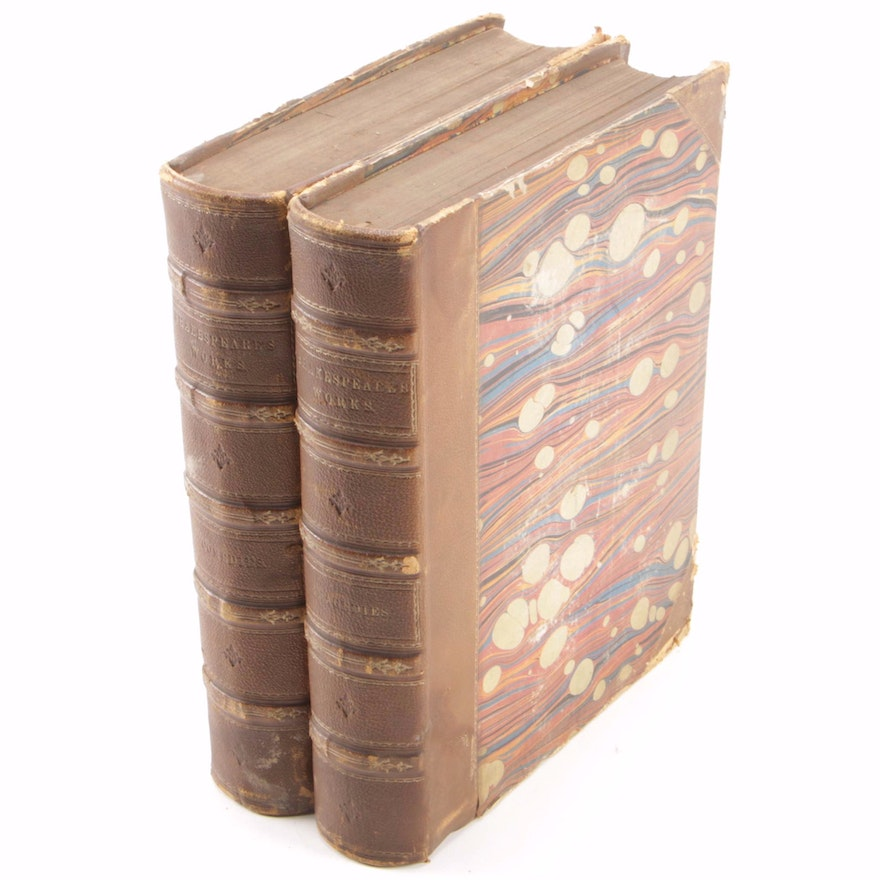 """""""The Complete Works of William Shakespeare"""" Partial Set, circa 1856"""