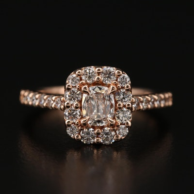 A. Jaffe 14K Gold Diamond Ring with GIA Report