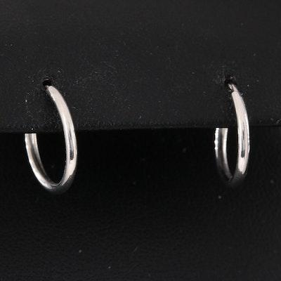 Platinum Small Hoop Earrings