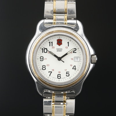 "Swiss Army ""Officer's Watch"" Two Tone Quartz Wristwatch"