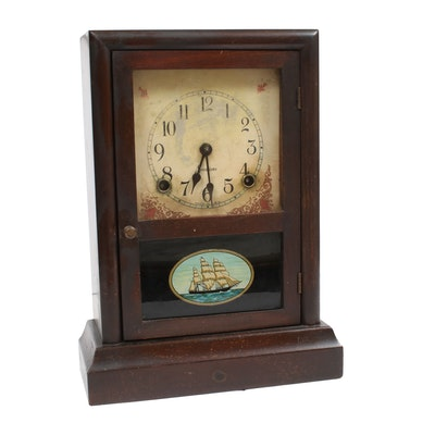 Sessions Nautical Mantle Clock, Early 20th Century