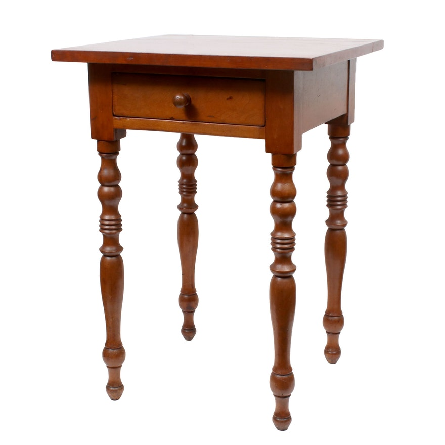 American Federal Cherrywood Work Table, Second Quarter 19th Century