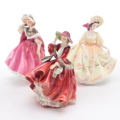 "Royal Doulton ""Sunday Best"", ""Sunday Morning"" and ""Top O' the Hill"" Figurines"