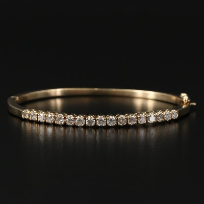 Hinged 14K 1.53 CTW Diamond Bracelet