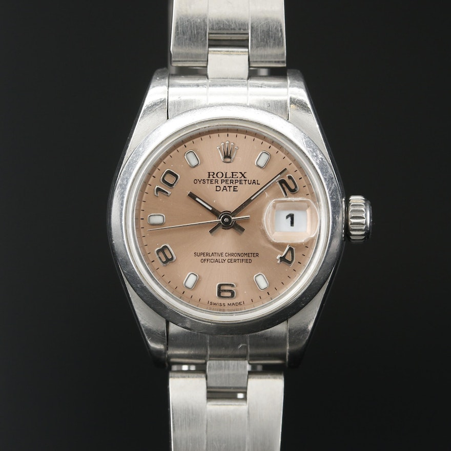 2005 Rolex Date 79160 Stainless Steel Automatic Wristwatch