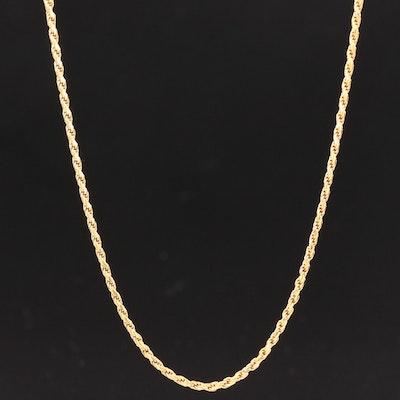 18K Yellow Gold Rope Chain