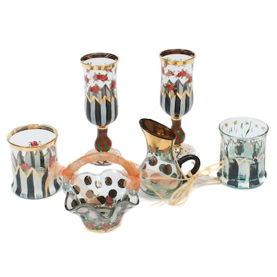 "MacKenzie-Childs ""Circus"" Stemware and Other Table Accessories"