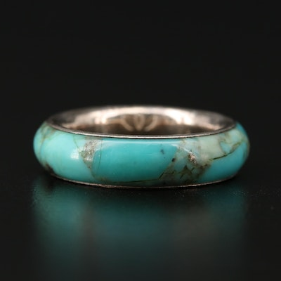 Sterling Silver Turquoise Eternity Ring