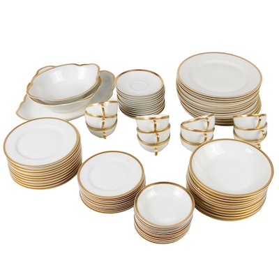 Haviland Gilt-Accented Porcelain Dinnerware, circa 1900s