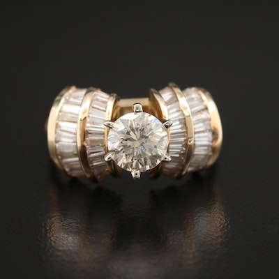 14K Yellow Gold 2.65 CTW Diamond Ring