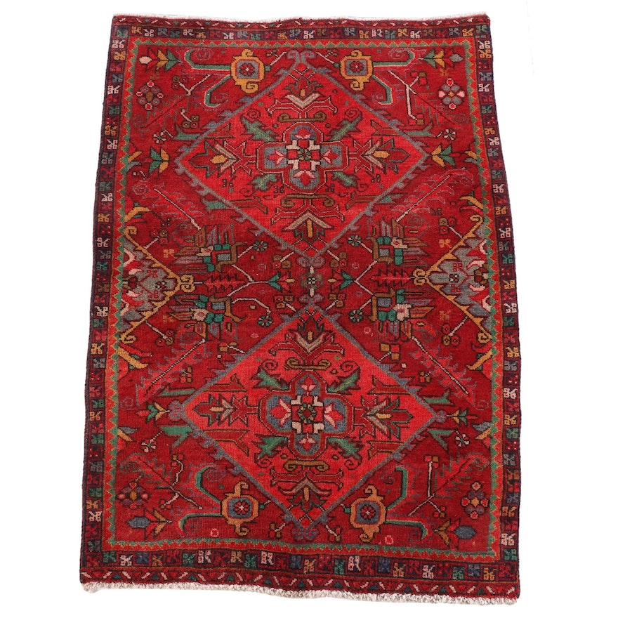 3'7 x 5'7 Hand-Knotted Persian Luri Wool Rug