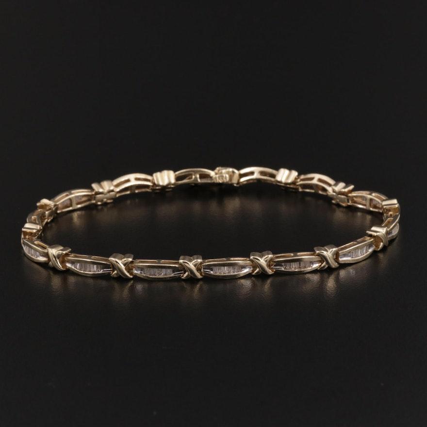 14K Gold 1.00 CTW Diamond Bracelet
