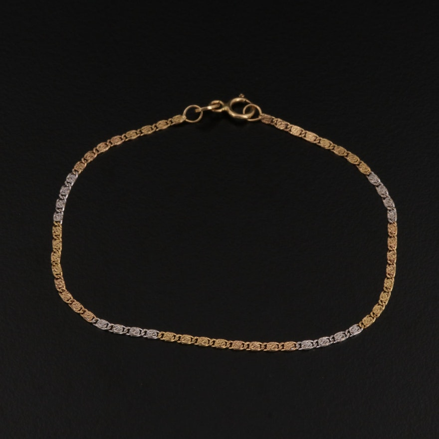 18K Gold Motif Bracelet