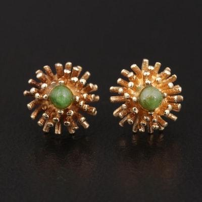 14K Yellow Gold Serpentine Earrings