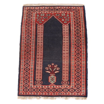 2'2 x 3'3 Floral Wool Prayer Rug