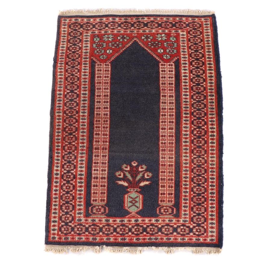 2'2 x 3'3 Floral Wool Prayer Rug