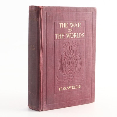 "1898 ""The War of the Worlds"" by H. G. Wells, Illustrated"