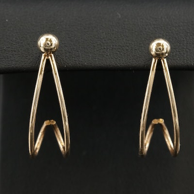 14K Yellow Gold Earrings with Jackets