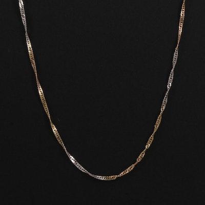 18K Tri Color Necklace