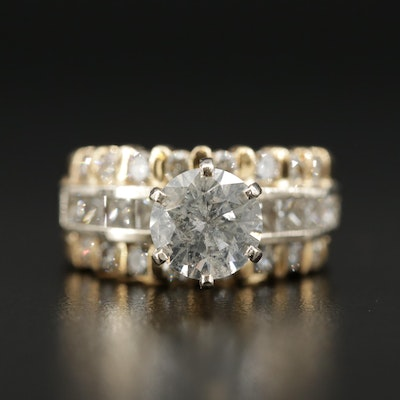 14K Gold 3.56 CTW Diamond Ring
