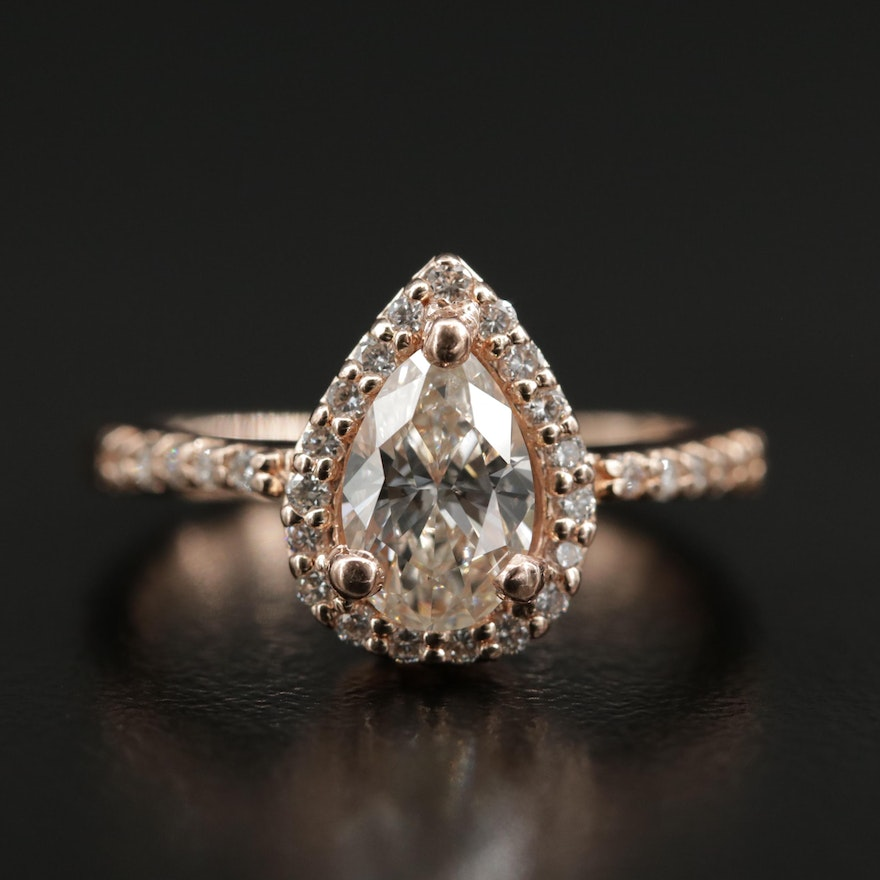 14K Rose Gold 1.03 CTW Diamond Ring