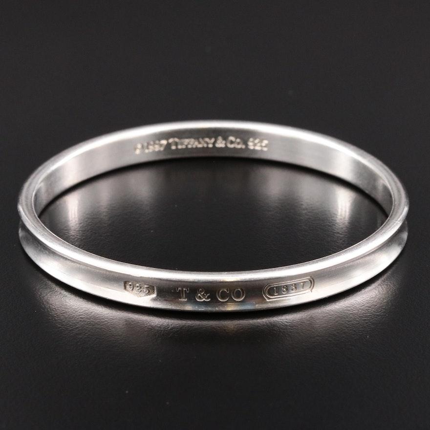 """Tiffany & Co. """"1837"""" Sterling Silver Bangle Bracelet"""