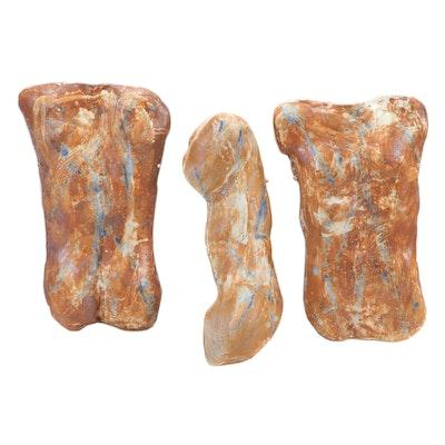 David C. Waltz Ceramic Cast Bas-Relief Torsos