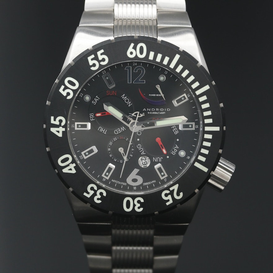 Android DM Contender Stainless Steel Automatic Wristwatch