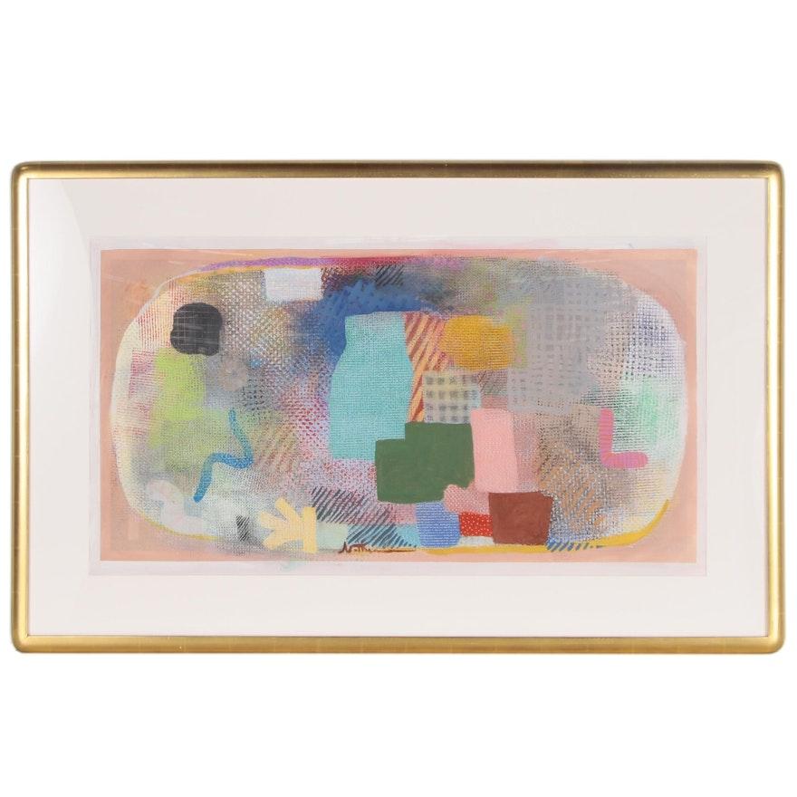 "Robert Natkin Monumental Abstract Acrylic Painting ""Hitchcock Series"""