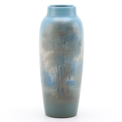 Edward George Diers Rookwood Pottery Vellum Glaze Vase, 1921