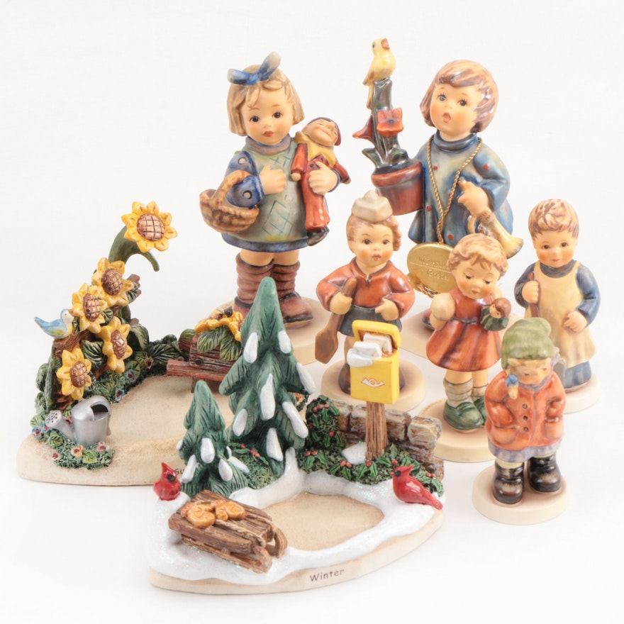 "Goebel ""First Mate"", ""Hidden Treasures"" and Other Porcelain Hummel Figurines"
