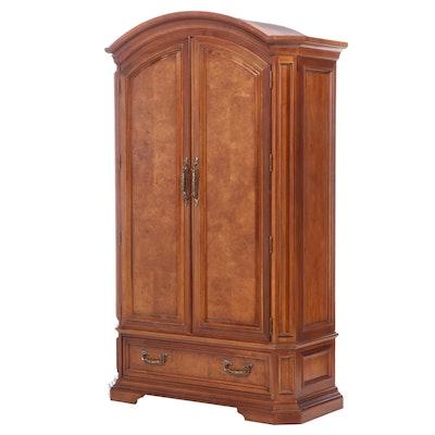 Stanley Furniture Hardwood and Burl-Veneered Wardrobe