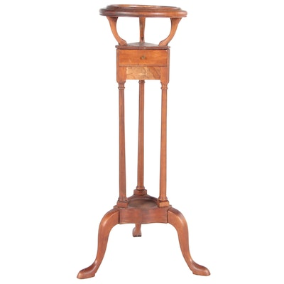 Bartley Collection Queen Anne Style Mahogany Basin Stand, Late 20th Century