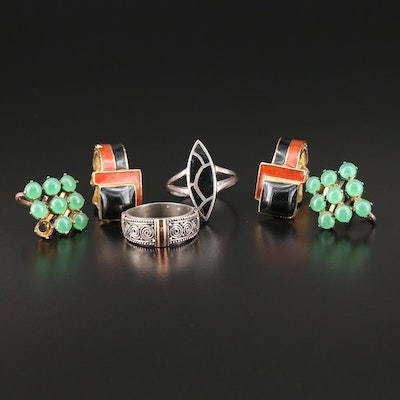 Mixed Metal Jewelry Selection Featuring Ciner, Suarti, and Enamel Accents