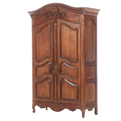 Louis XV Style Stained Wood Armoire, Late 20th Century
