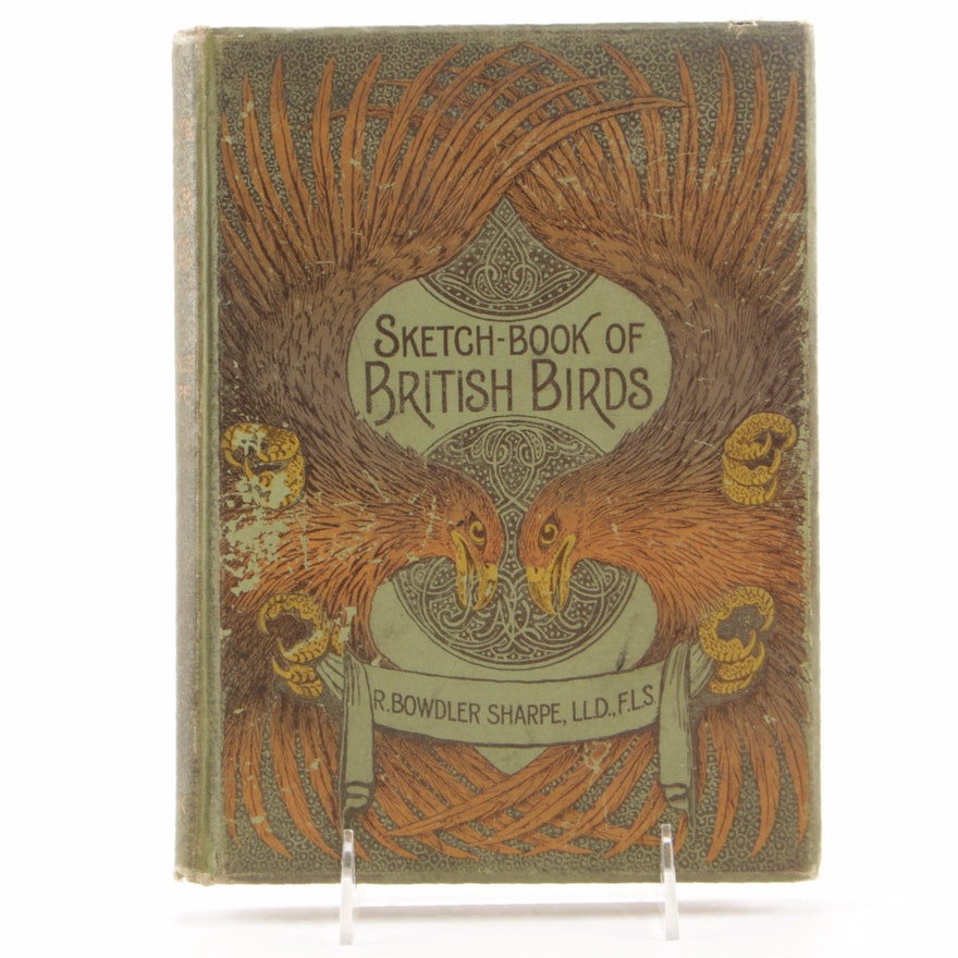 "1898 First Edition ""Sketch-Book of British Birds"" by R. Bowdler Sharpe"