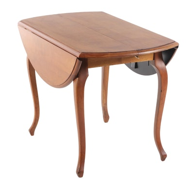 French Provincial Style Cherry Drop Leaf Table,