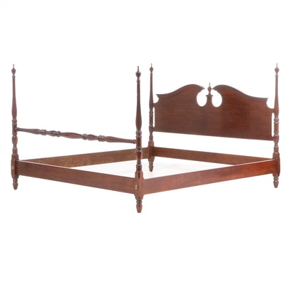Drexel Furniture Federal Style Cherrywood King-Size Bed Frame